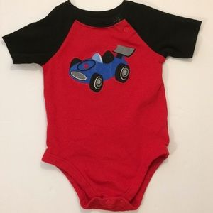 Garanimals size 24m red blue car one piece